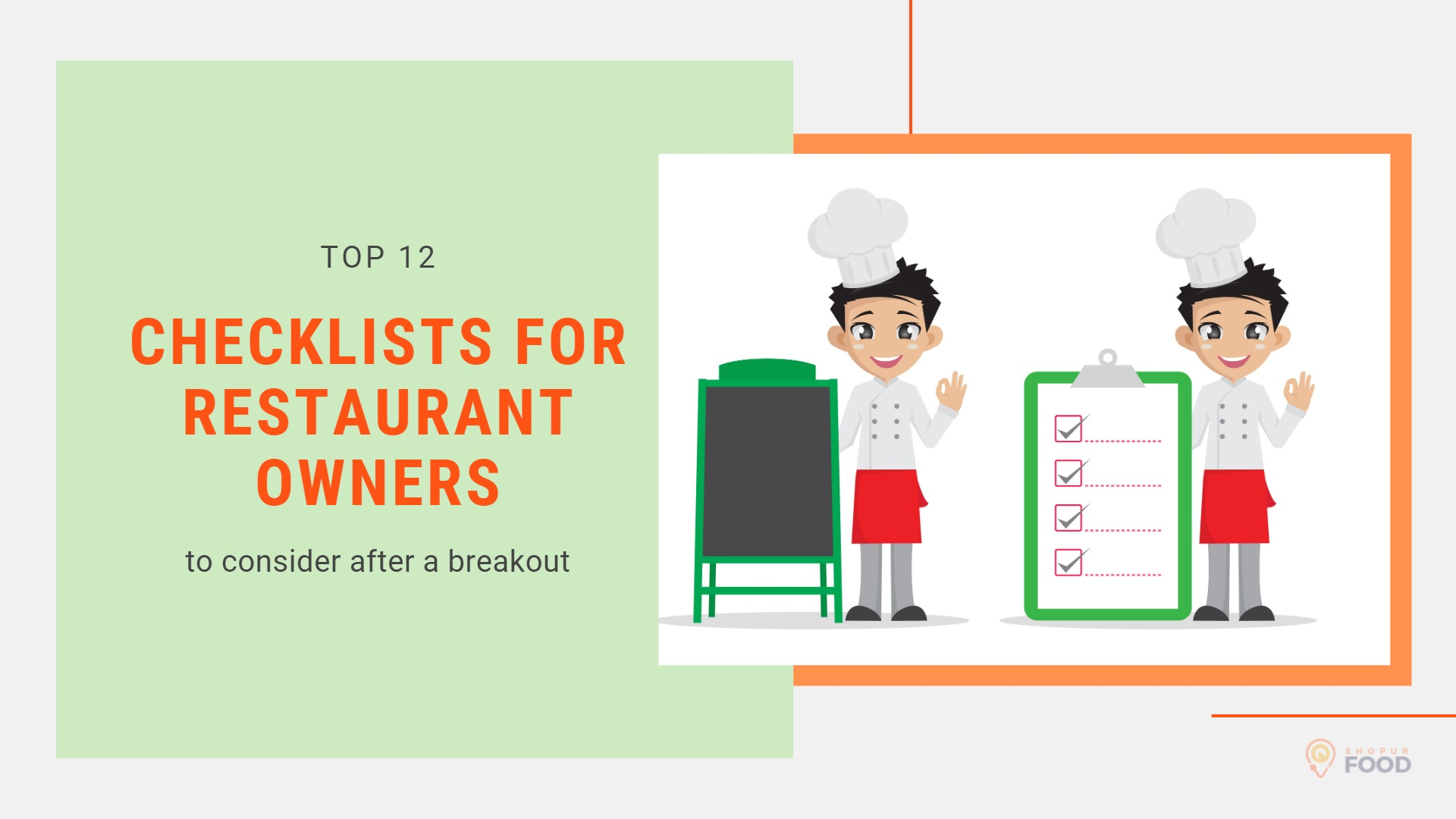 Checklists for Restaurant owners