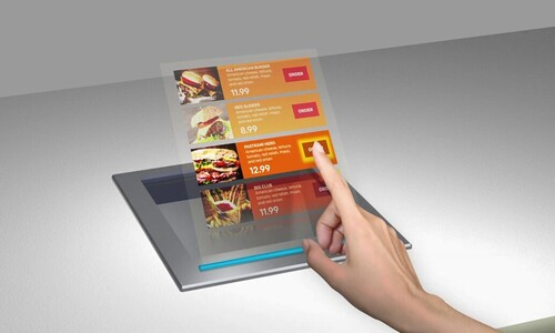Holographic restaurant menu
