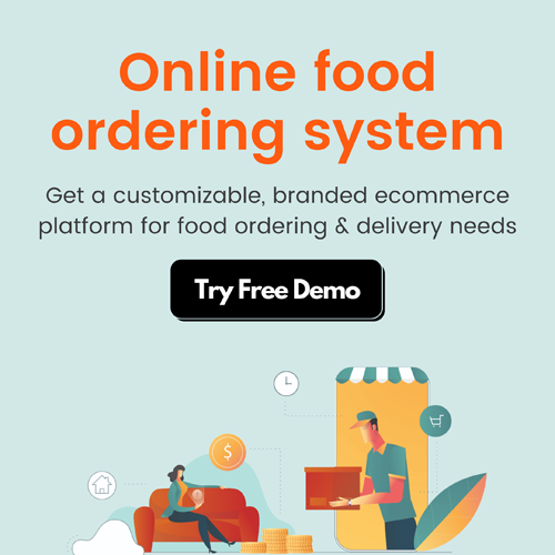 Online food ordering system demo