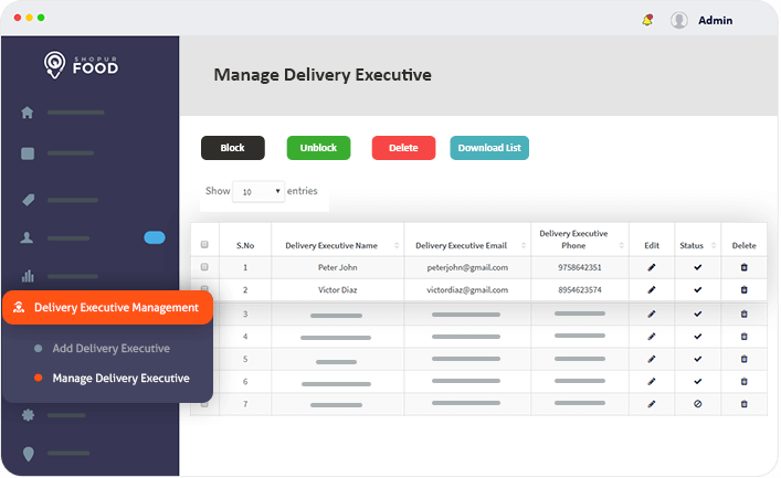 delivery executive management