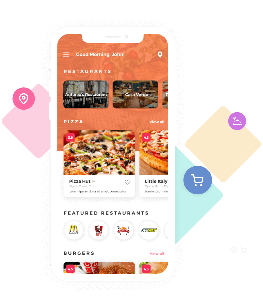 Ubereats Clone, Swiggy Clone customer application